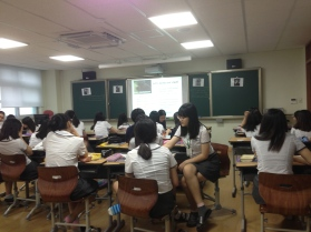 ETA Classroom at an all-girls high school in Daejeon