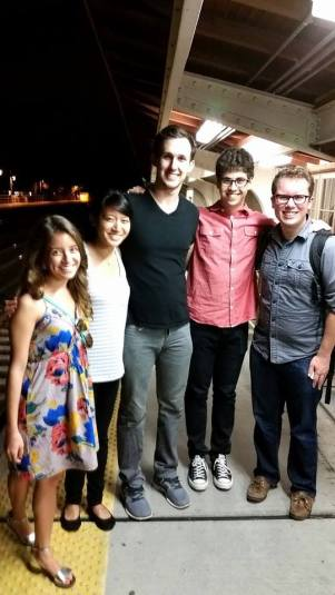 Hanging out with 2013-14 Korea Fulbrighters Allison, Kristine, Taylor, and Dan on a Metro-North Platform in Bronxville, NY a week after returning home
